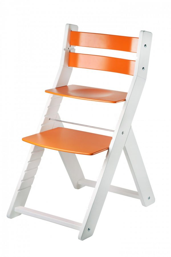 Rostoucí židle Sandy bílá / oranžová