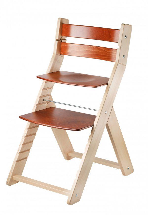 Rostoucí jídelní židle Sandy natur lak / mahagon