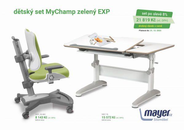 Dětský set zelený MyChamp - Expert