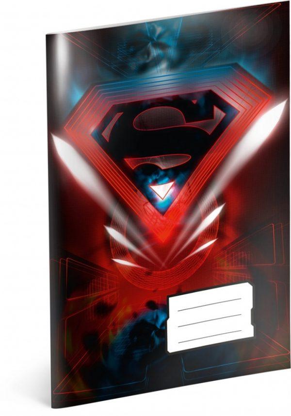 Školní sešit Superman – Red, A4, 40 listů, linkovaný