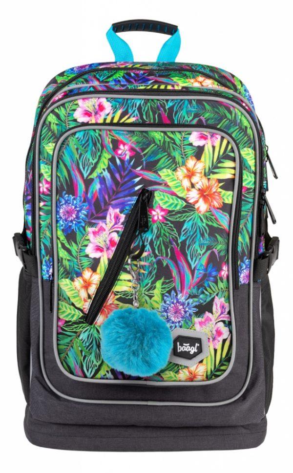 BAAGL Školní batoh Cubic Tropical