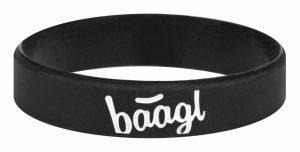 BAAGL Svítící náramek Logo černý