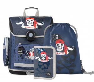 BAAGL SET 3 Piráti: aktovka, penál, sáček