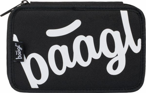 BAAGL Školní penál dvoupatrový Logo černý