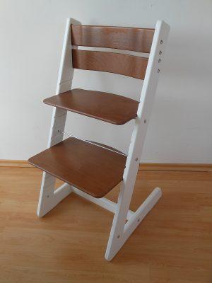 Rostoucí židle Jitro Klasik bílo ořechová