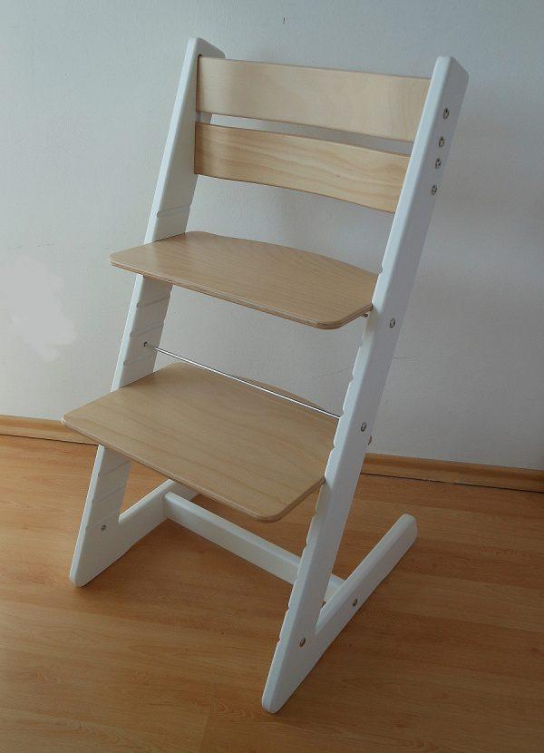 Rostoucí židle Jitro Klasik bílo buková