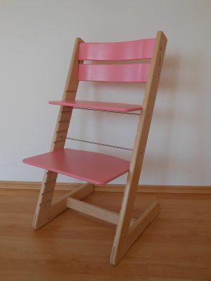 Rostoucí židle Jitro Klasik buk - růžová