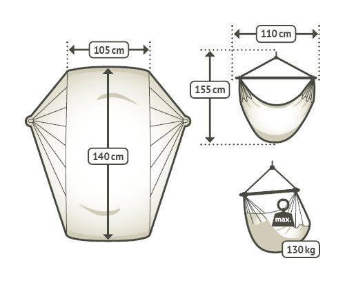 Houpací křeslo La Siesta Basic rozměry
