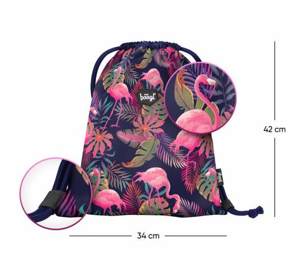 Sáček na boty BAAGL Flamingo s rozměry