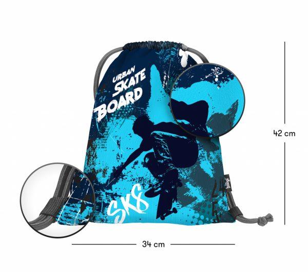 Sáček na přezůvky BAAGL Skateboard