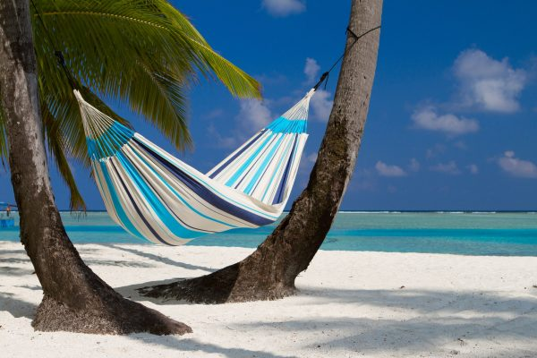 Houpací síť La Siesta Caribeňa Single - aquablue venku
