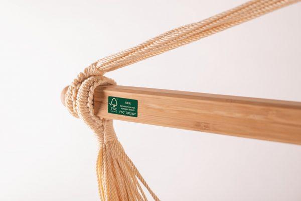 Závěsné houpací křeslo La Siesta Domingo Comfort - seasalt detail