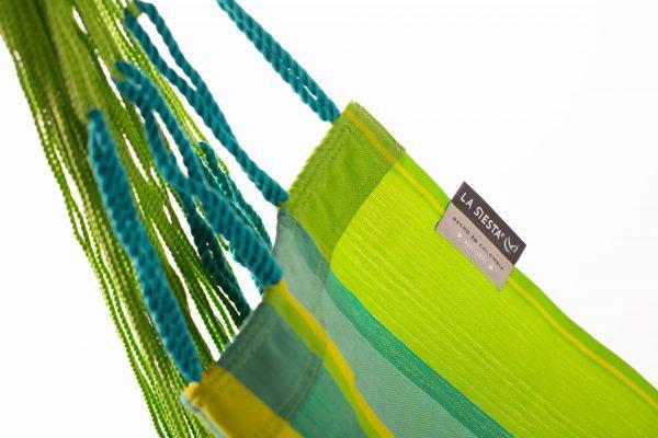 Závěsné houpací křeslo La Siesta Domingo Comfort - lime detail