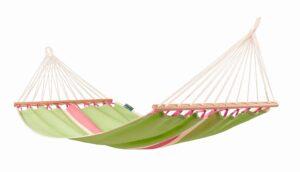 Houpací síť s tyčemi La Siesta Fruta Single - kiwi