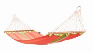 Houpací síť s tyčemi La Siesta Fruta Single - mango