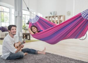 Houpací síť do bytu La Siesta Orquídea Single - purple