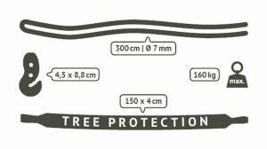 Uchycení houpací sedačky La Siesta TreeMount - parametry