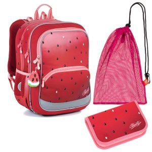 Školní set Topgal BAZI 21003 G - batoh a penál s motivem melounu, sáček na přezůvky