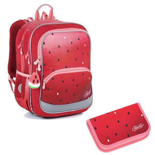 Školní set Topgal BAZI 21003 G - batoh a penál s motivem melounu