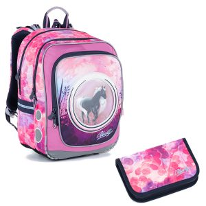 Školní set Topgal ENDY 21005 G - penál a batoh s koni