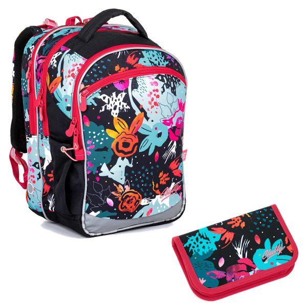 Školní set Topgal COCO 21006 G - pestrý batoh a penál