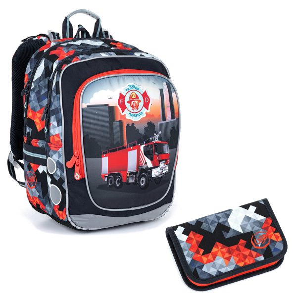 Školní set Topgal ENDY 21013 B - batoh a penál hasiči