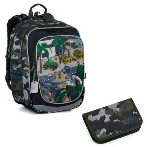 Školní set Topgal ENDY 21016 B - batoh a penál Minecraft vojenský