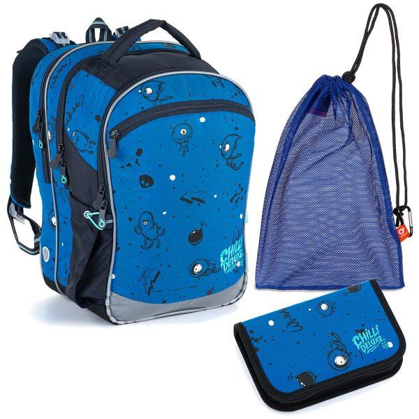 Set Topgal COCO 21017, batoh a penál s příšerkami, sáček na přezůvky