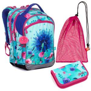 Školní set Topgal COCO 20003 G - batoh, penál a sáček na přezůvky