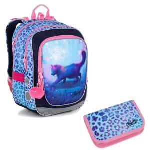 Školní set Topgal ENDY 20043 G - batoh s kočičkou a penál