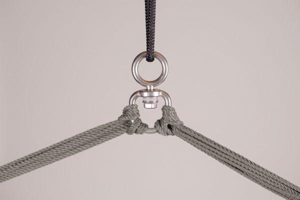 Závěsné houpací křeslo La Siesta Domingo Comfort - almond detail zavěšení